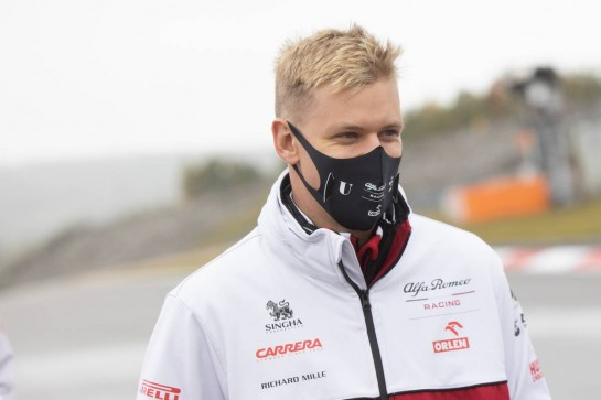 Mick Schumacher (GER) Alfa Romeo Racing Test Driver walks the circuit. 08.10.2020. Formula 1 World Championship, Rd 11, Eifel Grand Prix, Nurbugring, Germany, Preparation Day. - www.xpbimages.com, EMail: requests@xpbimages.com © Copyright: Bearne / XPB Images
