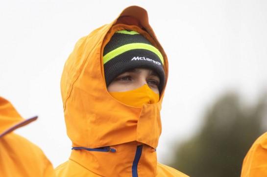 Lando Norris (GBR) McLaren walks the circuit. 08.10.2020. Formula 1 World Championship, Rd 11, Eifel Grand Prix, Nurbugring, Germany, Preparation Day. - www.xpbimages.com, EMail: requests@xpbimages.com © Copyright: Bearne / XPB Images