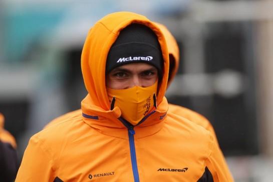 Carlos Sainz Jr (ESP) McLaren MCL35.08.10.2020. Formula 1 World Championship, Rd 11, Eifel Grand Prix, Nurbugring, Germany, Preparation Day.- www.xpbimages.com, EMail: requests@xpbimages.com © Copyright: Batchelor / XPB Images