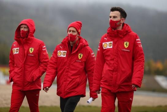 Sebastian Vettel (GER), Scuderia Ferrari 08.10.2020. Formula 1 World Championship, Rd 11, Eifel Grand Prix, Nurbugring, Germany, Preparation Day.- www.xpbimages.com, EMail: requests@xpbimages.com © Copyright: Charniaux / XPB Images
