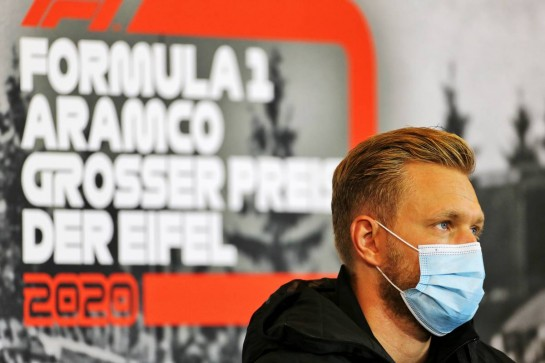 Kevin Magnussen (DEN) Haas F1 Team in the FIA Press Conference. 08.10.2020. Formula 1 World Championship, Rd 11, Eifel Grand Prix, Nurbugring, Germany, Preparation Day. - www.xpbimages.com, EMail: requests@xpbimages.com © Copyright: Charniaux / XPB Images