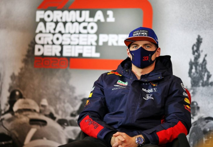 Max Verstappen (NLD) Red Bull Racing in the FIA Press Conference. 08.10.2020.