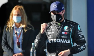 Bottas on top after pipping Hamilton to Eifel GP pole
