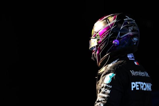 Lewis Hamilton (GBR) Mercedes AMG F1 in qualifying parc ferme. 10.10.2020. Formula 1 World Championship, Rd 11, Eifel Grand Prix, Nurbugring, Germany, Qualifying Day. - www.xpbimages.com, EMail: requests@xpbimages.com © Copyright: Batchelor / XPB Images