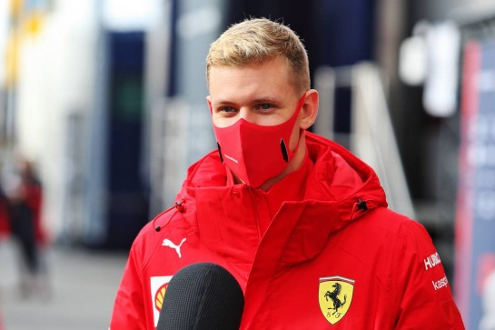 Mick Schumacher (GER) Alfa Romeo Racing Test Driver and Ferrari Academy Driver. 11.10.2020. Formula 1 World Championship, Rd 11, Eifel Grand Prix, Nurbugring, Germany, Race Day. - www.xpbimages.com, EMail: requests@xpbimages.com © Copyright: Moy / XPB Images