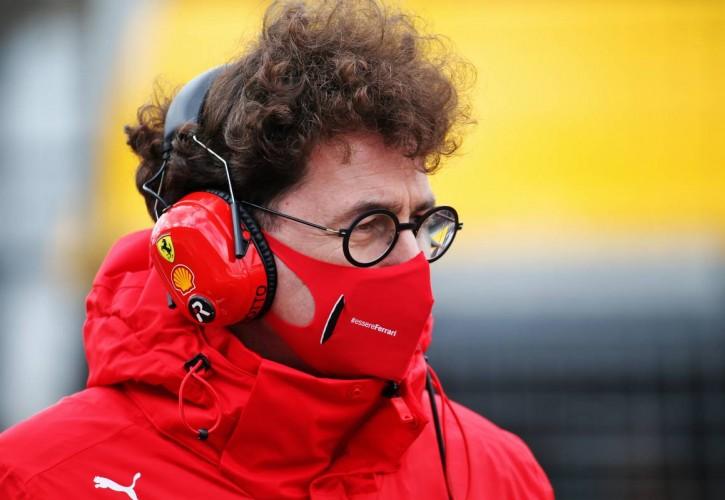 Mattia Binotto (ITA) Ferrari Team Principal on the grid.