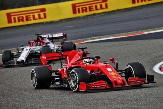 Sebastian Vettel (GER) Ferrari SF1000. 11.10.2020. Formula 1 World Championship, Rd 11, Eifel Grand Prix, Nurbugring, Germany, Race Day. - www.xpbimages.com, EMail: requests@xpbimages.com © Copyright: Batchelor / XPB Images