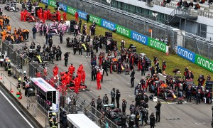 The grid before the start of the Eifel Grand Prix. 11.10.2020.