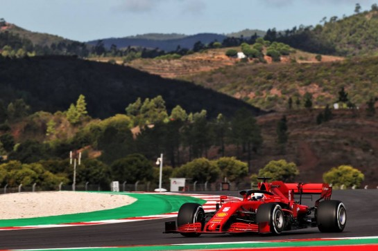 Sebastian Vettel (GER) Ferrari SF1000. 23.10.2020. Formula 1 World Championship, Rd 12, Portuguese Grand Prix, Portimao, Portugal, Practice Day. - www.xpbimages.com, EMail: requests@xpbimages.com © Copyright: Batchelor / XPB Images