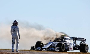 Gasly at risk of grid penalty following FP2 engine blaze