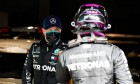 Valtteri Bottas (FIN) Mercedes AMG F1 with team mate Lewis Hamilton (GBR) Mercedes AMG F1 in qualifying parc ferme.