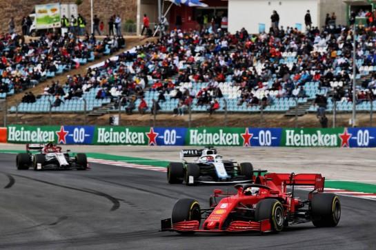 Sebastian Vettel (GER) Ferrari SF1000. 25.10.2020. Formula 1 World Championship, Rd 12, Portuguese Grand Prix, Portimao, Portugal, Race Day. - www.xpbimages.com, EMail: requests@xpbimages.com © Copyright: Batchelor / XPB Images