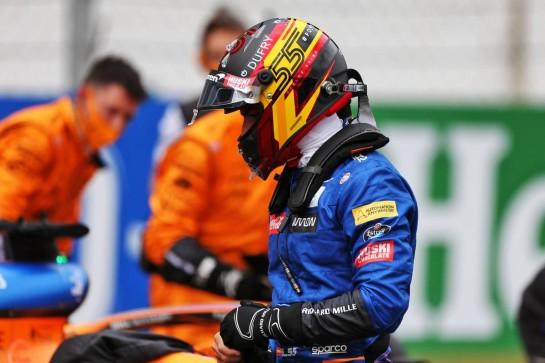 Carlos Sainz Jr (ESP) McLaren on the grid. 25.10.2020. Formula 1 World Championship, Rd 12, Portuguese Grand Prix, Portimao, Portugal, Race Day. - www.xpbimages.com, EMail: requests@xpbimages.com © Copyright: Moy / XPB Images