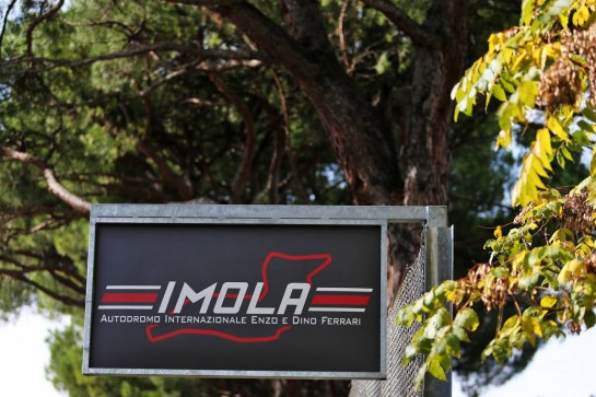 Circuit atmosphere - Imola sign.