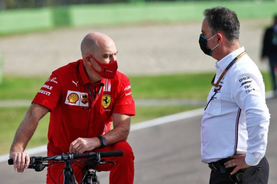 (L to R): Jock Clear (GBR) Ferrari Engineering Director with Ron Meadows (GBR) Mercedes GP Team Manager.