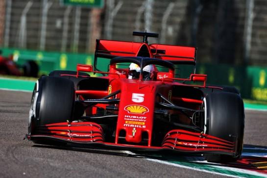 Sebastian Vettel (GER) Ferrari SF1000. 31.10.2020. Formula 1 World Championship, Rd 13, Emilia Romagna Grand Prix, Imola, Italy, Qualifying Day. - www.xpbimages.com, EMail: requests@xpbimages.com © Copyright: Charniaux / XPB Images