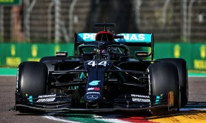 Hamilton tops single practice session at Imola