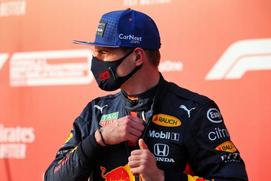 Max Verstappen (NLD) Red Bull Racing in qualifying parc ferme. 31.10.2020. Formula 1 World Championship, Rd 13, Emilia Romagna Grand Prix, Imola, Italy, Qualifying Day. - www.xpbimages.com, EMail: requests@xpbimages.com © Copyright: Batchelor / XPB Images