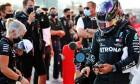 Lewis Hamilton (GBR) Mercedes AMG F1 in qualifying parc ferme