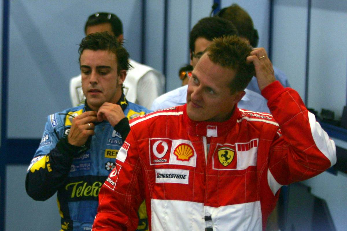 26.08.2006 Istanbul, Turkey, Fernando Alonso (ESP), Renault F1 Team and Michael Schumacher (GER), Scuderia Ferrari