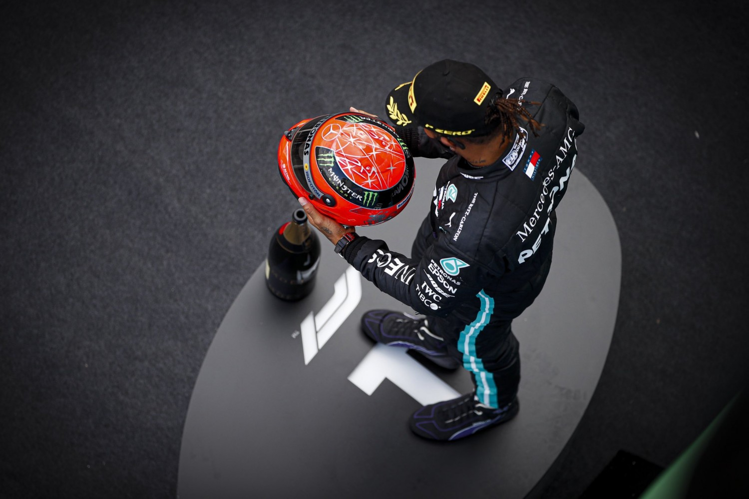Hamilton 'honoured' by Schumacher tribute for matching record
