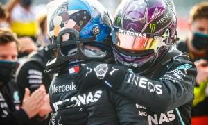 Hamilton wins at Imola, Mercedes clinch Constructors title