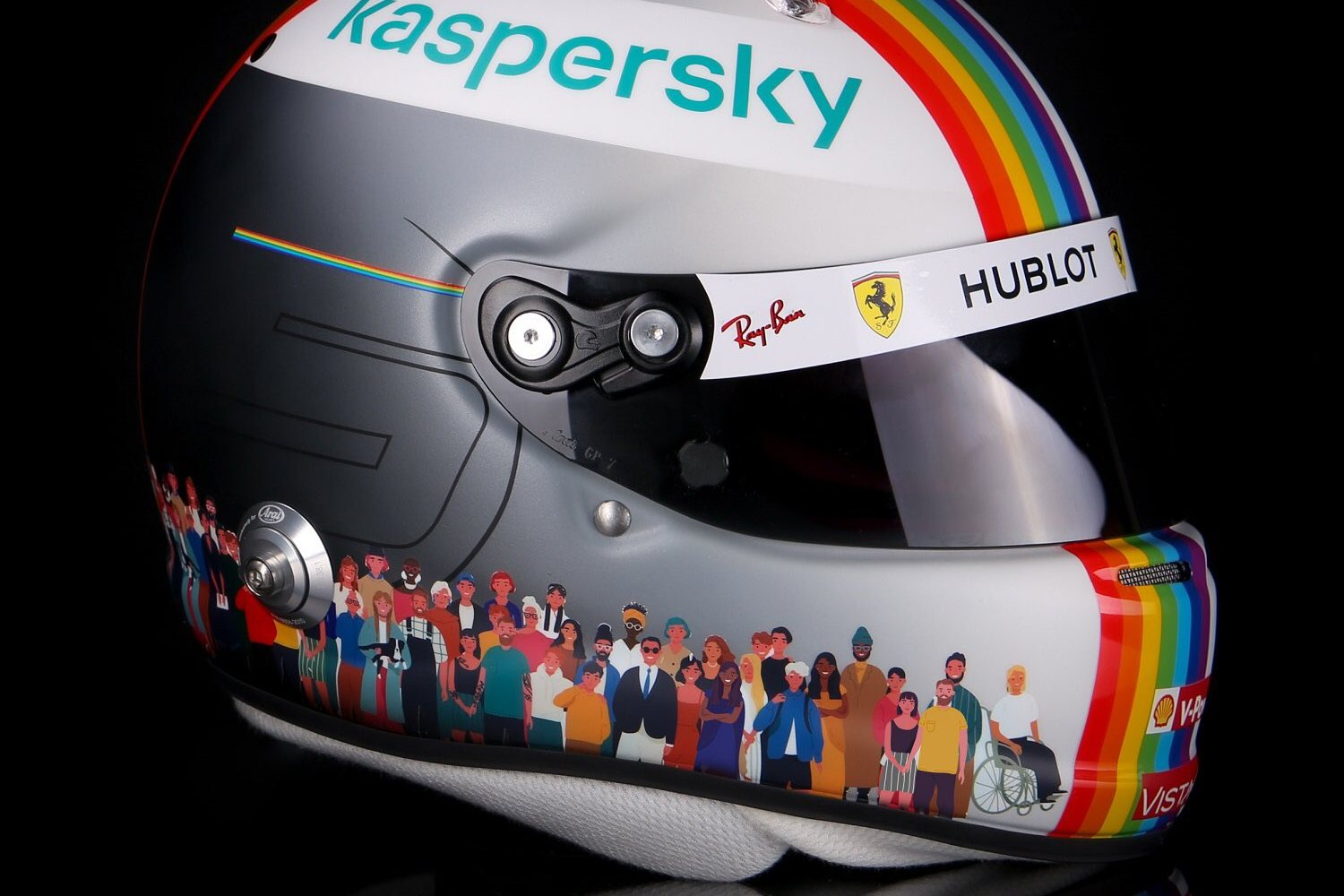 Vettel sports special 'Together as One' rainbow lid in Turkey