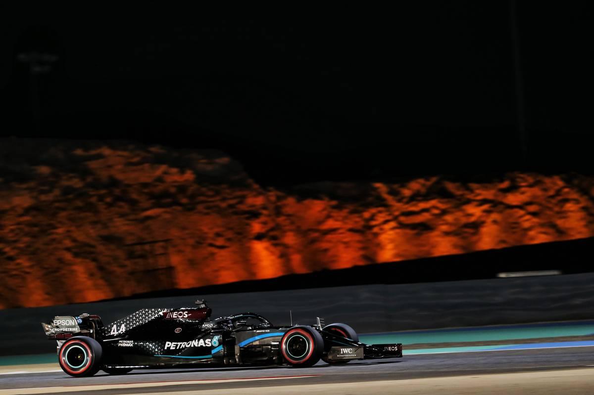 Lewis Hamilton (GBR) Mercedes AMG F1 W11. 28.11.2020. Formula 1 World Championship, Rd 15, Bahrain Grand Prix