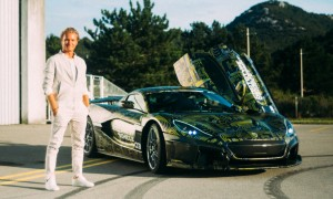 Rosberg takes new Rimac C_Two prototype for first spin