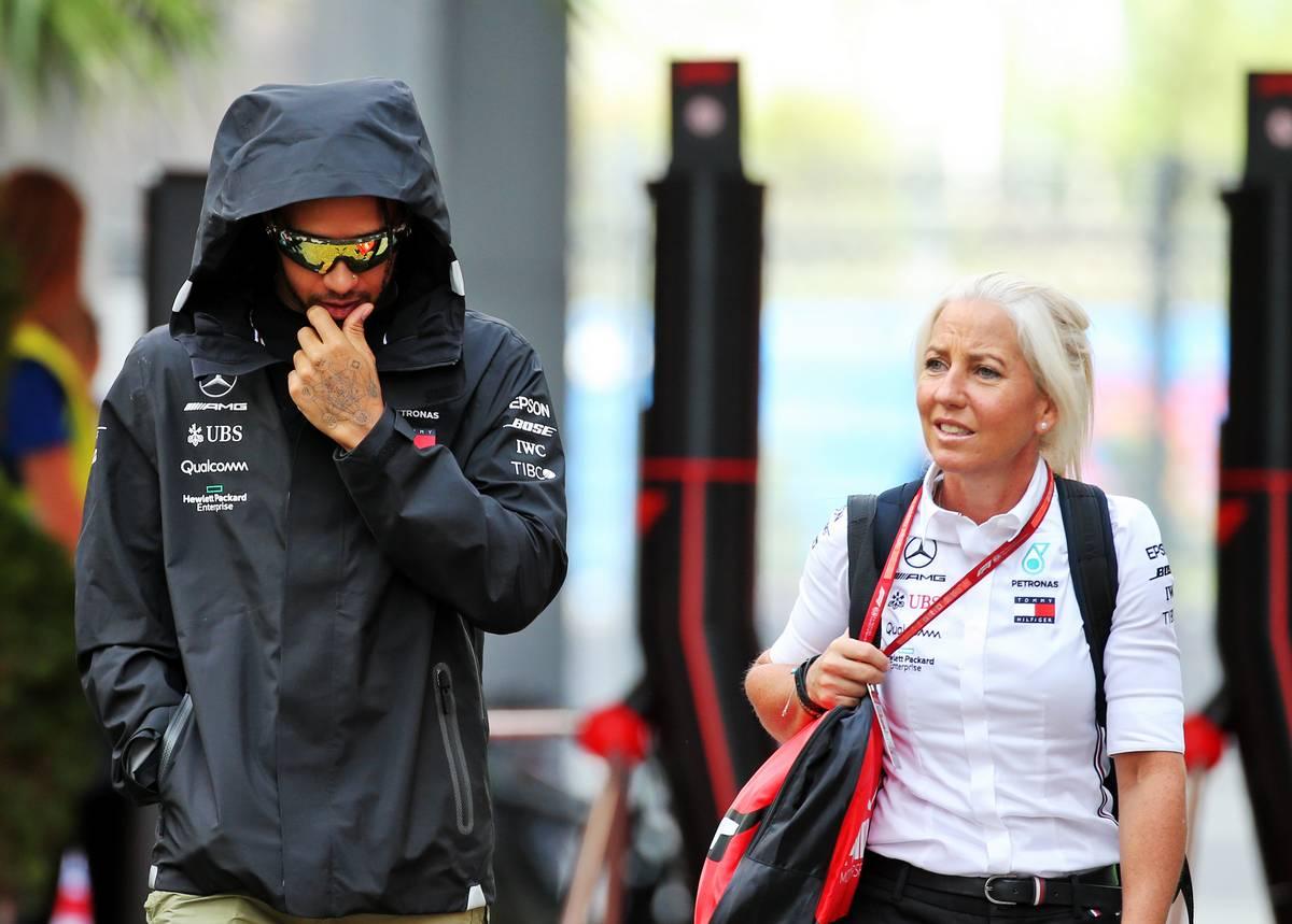 Hamilton hails 'great partnership' with physio Angela Cullen