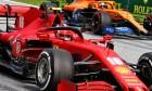 Charles Leclerc (MON) Ferrari SF1000 and Carlos Sainz Jr (ESP) McLaren MCL35.