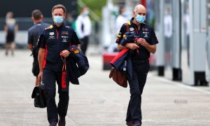 Christian Horner (GBR) Red Bull Racing Team Principal with Adrian Newey (GBR) Red Bull Racing Chief Technical Officer.