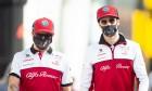 Kimi Raikkonen (FIN) Alfa Romeo Racing with Antonio Giovinazzi (ITA) Alfa Romeo Racing. 30.10.2020.