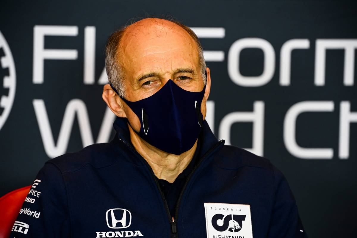 Franz Tost (AUT) AlphaTauri Team Principal in the FIA Press Conference. 30.10.2020.