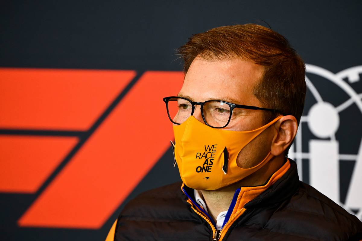 Andreas Seidl, McLaren Managing Director in the FIA Press Conference.