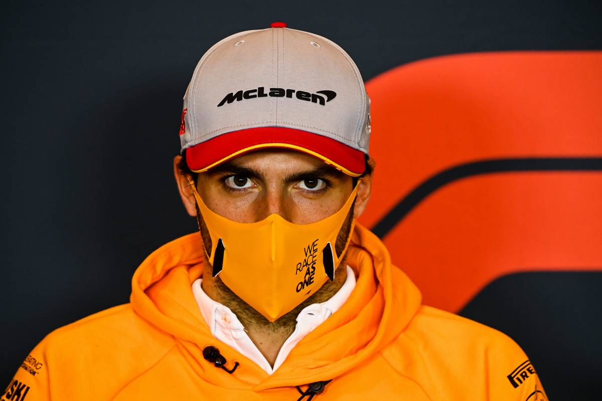 Carlos Sainz Jr (ESP) McLaren in the FIA Press Conference.