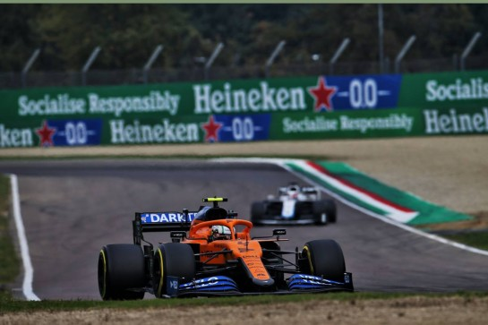 Lando Norris (GBR) McLaren MCL35. 01.11.2020. Formula 1 World Championship, Rd 13, Emilia Romagna Grand Prix, Imola, Italy, Race Day. - www.xpbimages.com, EMail: requests@xpbimages.com © Copyright: Batchelor / XPB Images