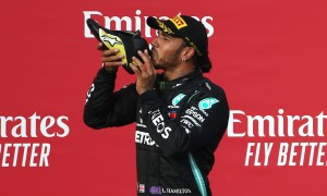 Hamilton admits maiden shoey 'didn't taste great'