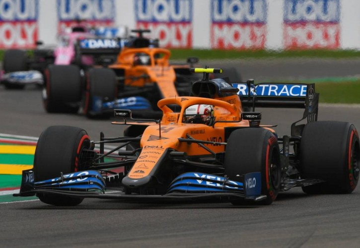 Lando Norris (GBR) McLaren MCL35. 01.11.2020. Formula 1 World Championship, Rd 13, Emilia Romagna Grand Prix