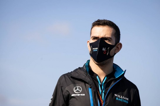 Nicholas Latifi (CDN) Williams Racing walks the circuit.