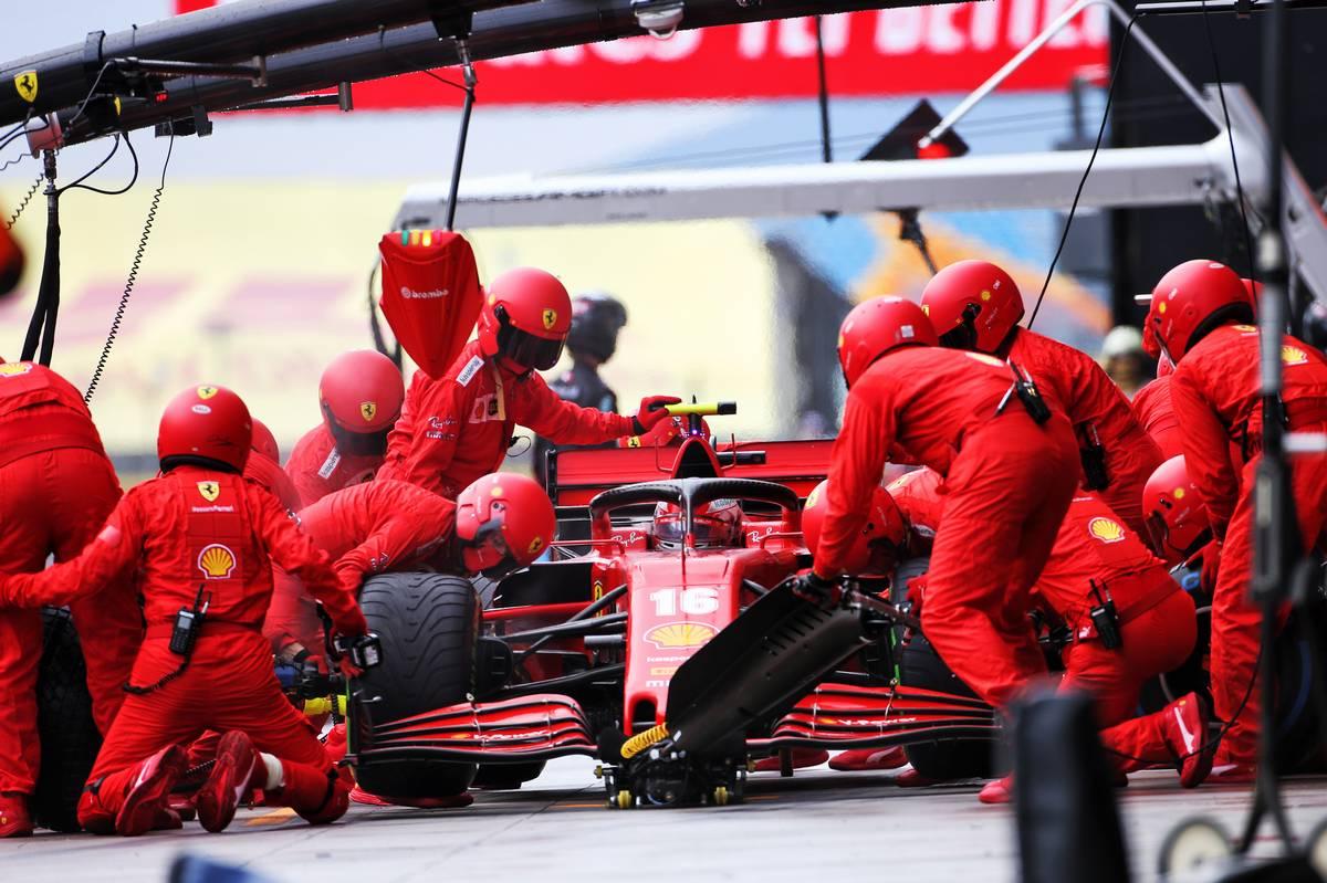 Charles Leclerc (MON) Ferrari SF1000 makes a pit stop.