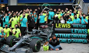 Hamilton's Seventh: A title celebration in pictures