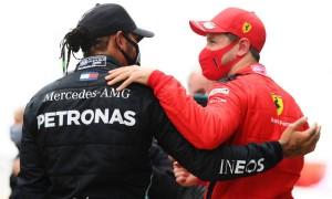 Vettel reveals special compliment paid to Hamilton in Parc Fermé