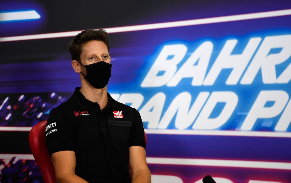 Romain Grosjean (FRA) Haas F1 Team in the FIA Press Conference. 26.11.2020. Formula 1 World Championship, Rd 15, Bahrain Grand Prix