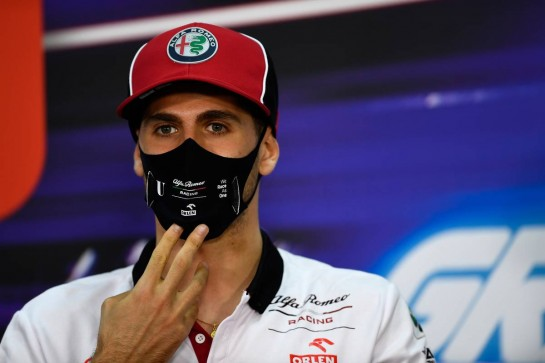 Antonio Giovinazzi (ITA) Alfa Romeo Racing in the FIA Press Conference.