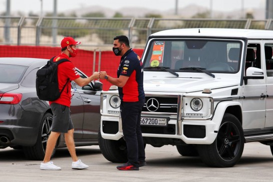 Sebastian Vettel (GER) Ferrari. 27.11.2020. Formula 1 World Championship, Rd 15, Bahrain Grand Prix, Sakhir, Bahrain, Practice Day - www.xpbimages.com, EMail: requests@xpbimages.com © Copyright: Moy / XPB Images