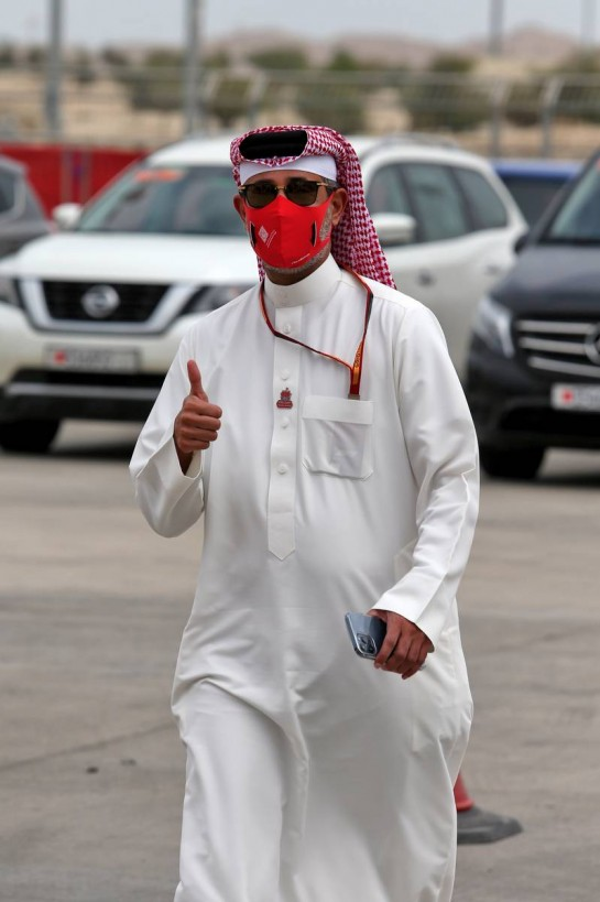 Sheikh Salman bin Isa Al-Khalifa (BRN) Chief Executive of Bahrain International Circuit. 28.11.2020. Formula 1 World Championship, Rd 15, Bahrain Grand Prix, Sakhir, Bahrain, Qualifying Day. - www.xpbimages.com, EMail: requests@xpbimages.com © Copyright: Moy / XPB Images