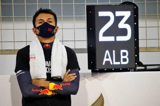 Alexander Albon (THA) Red Bull Racing on the grid. 29.11.2020. Formula 1 World Championship, Rd 15, Bahrain Grand Prix, Sakhir, Bahrain, Race Day. - www.xpbimages.com, EMail: requests@xpbimages.com © Copyright: Batchelor / XPB Images