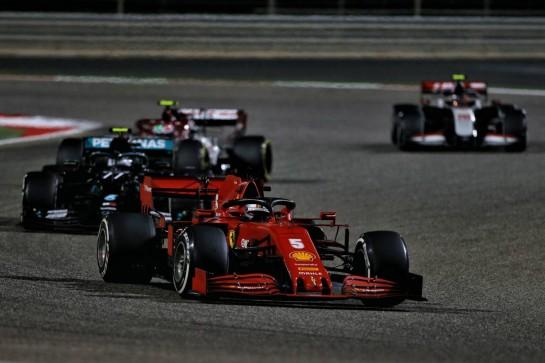 Sebastian Vettel (GER) Ferrari SF1000. 29.11.2020. Formula 1 World Championship, Rd 15, Bahrain Grand Prix, Sakhir, Bahrain, Race Day. - www.xpbimages.com, EMail: requests@xpbimages.com © Copyright: Moy / XPB Images