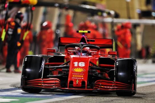 Charles Leclerc (MON) Ferrari SF1000 makes a pit stop. 29.11.2020. Formula 1 World Championship, Rd 15, Bahrain Grand Prix, Sakhir, Bahrain, Race Day. - www.xpbimages.com, EMail: requests@xpbimages.com © Copyright: Charniaux / XPB Images